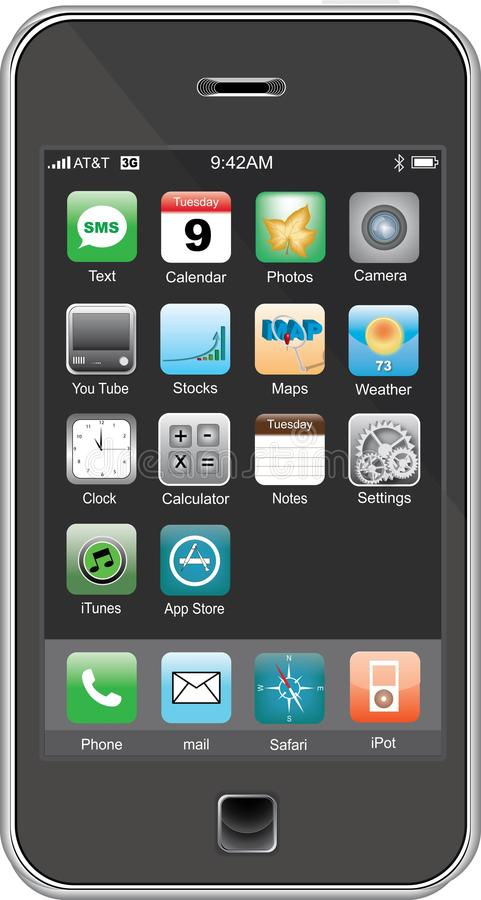 mobil telefon vektor illustrationer