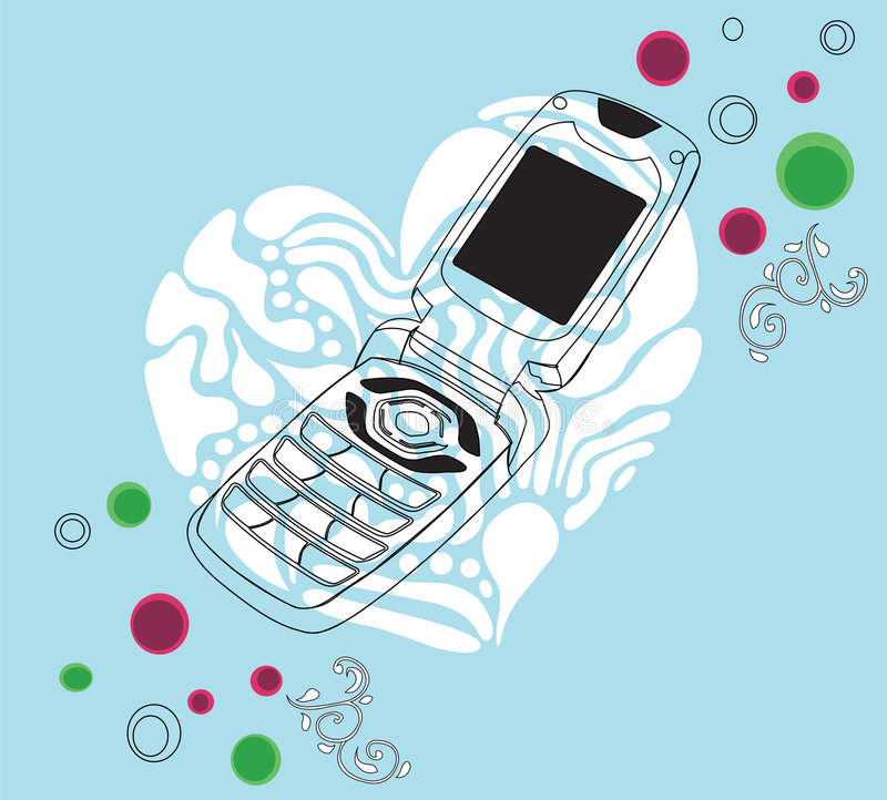 mobil telefon vektor illustrationer