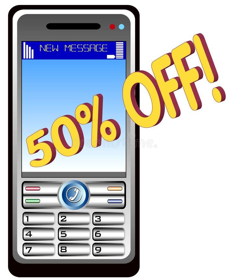 Mobil-Telefon Benennen stock abbildung