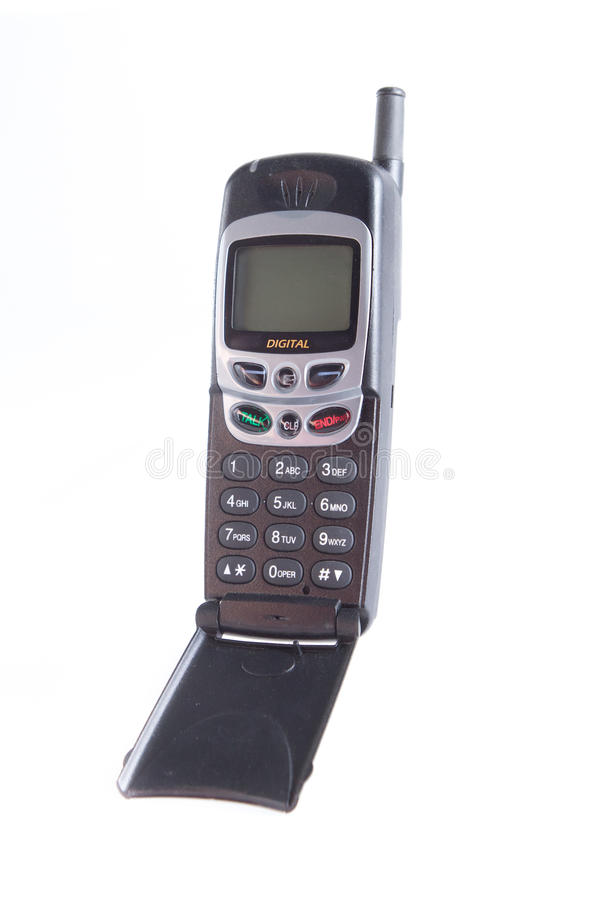 Mobil telefon för generisk flip med den blanka skärmen arkivfoton