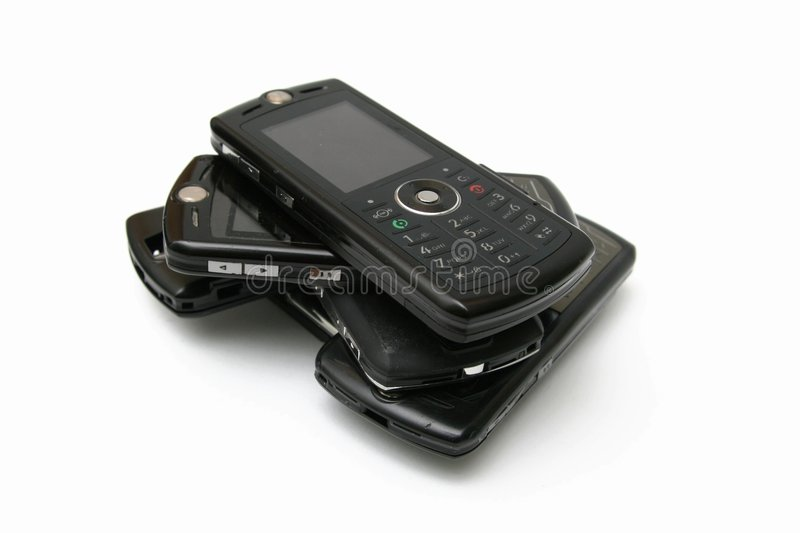 mobil telefonbunt för cell arkivbilder