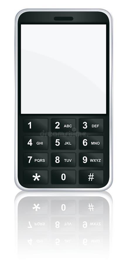 mobil telefonvektor för symbol royaltyfri illustrationer