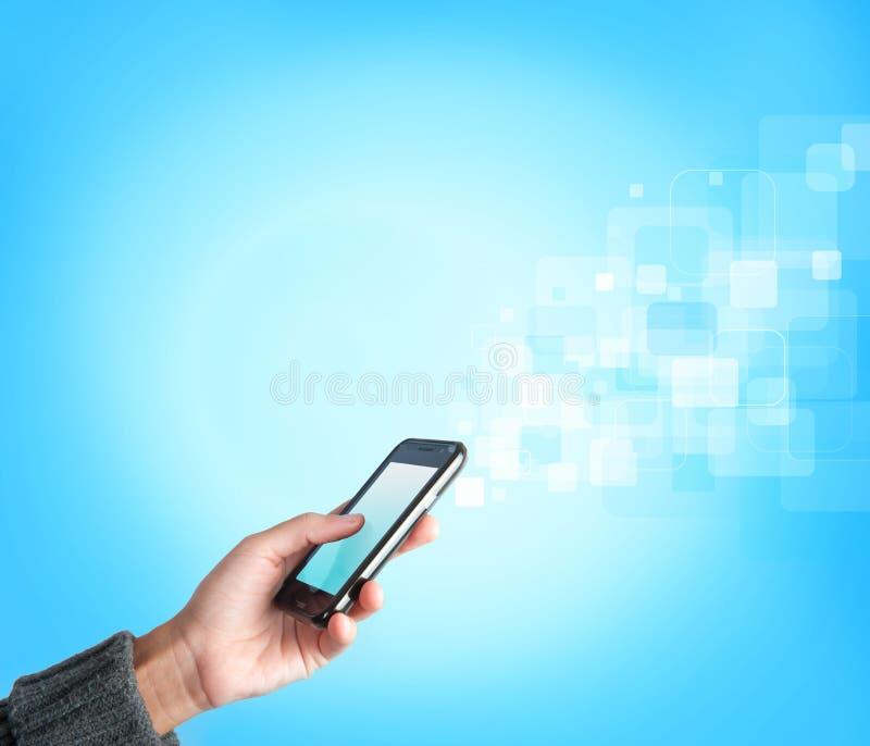mobil tryckning för telefon royaltyfria bilder