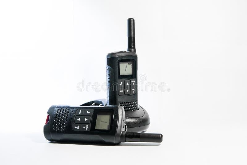 Mobil walkie-talkie fotografering för bildbyråer