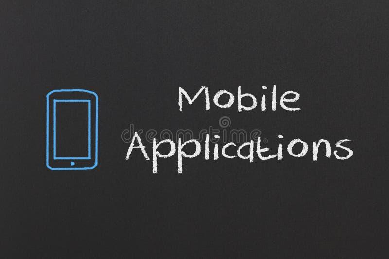 Mobila applikationer vektor illustrationer