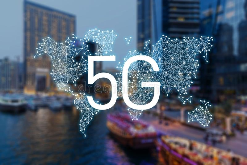 mobila data f?r n?tverk 5g vektor illustrationer