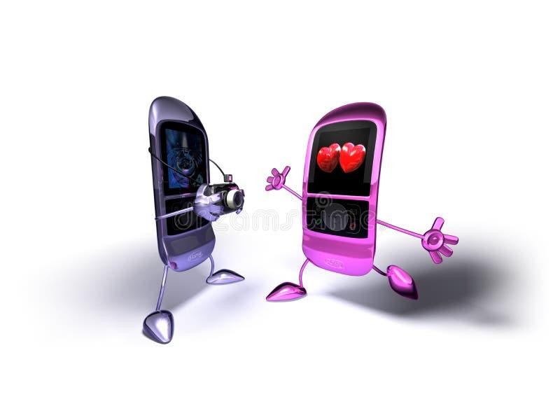 mobila telefoner stock illustrationer