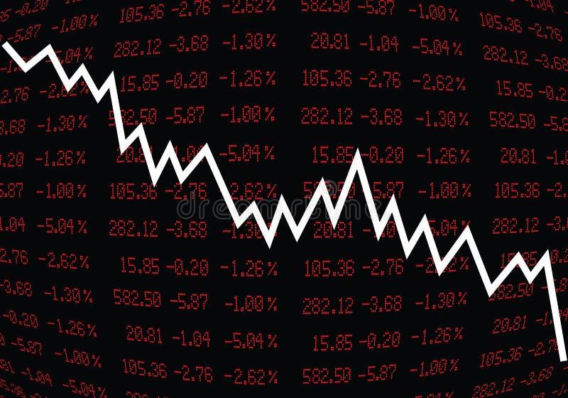 Stock Market Crash royalty free stock image