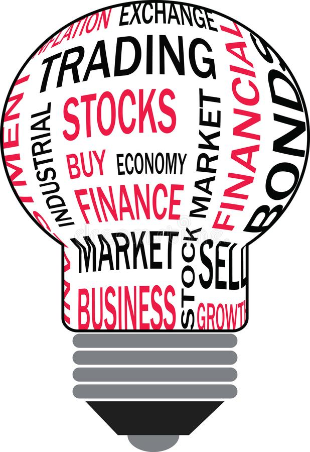 Financial Bulb royalty free stock image