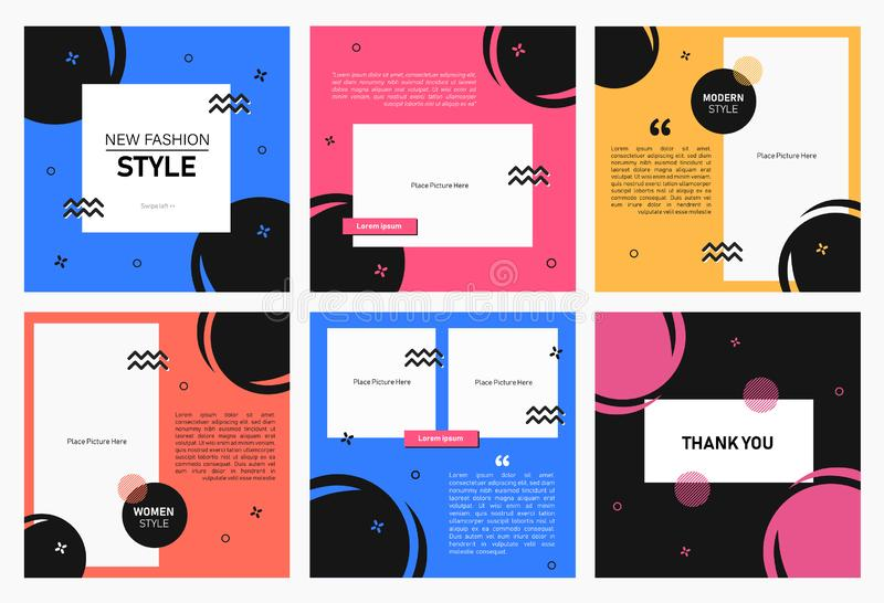 Set of editable square banner template. Editable banner for social media post and web/internet ads. Editable banner adversiter tem. Plate.t. can use for vector illustration