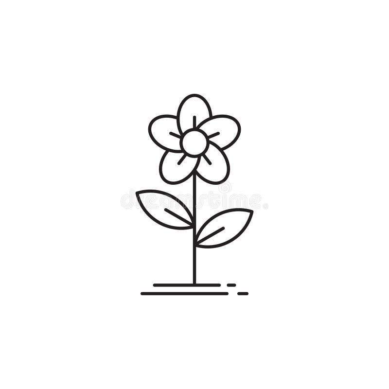 Flower Line Art Simple Icon Design Vector Stock Vector Illustration Of Simple Sticker 175475231