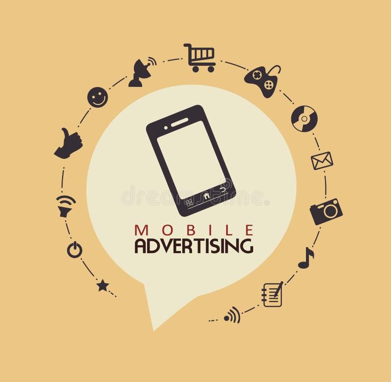 Mobile advertising vector illustration