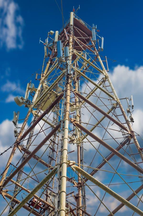 The mobile antennas stock photo