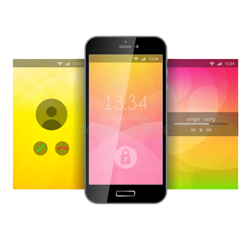 Wallpaper Music Download App: Mobile App Application Background Wallpaper Template