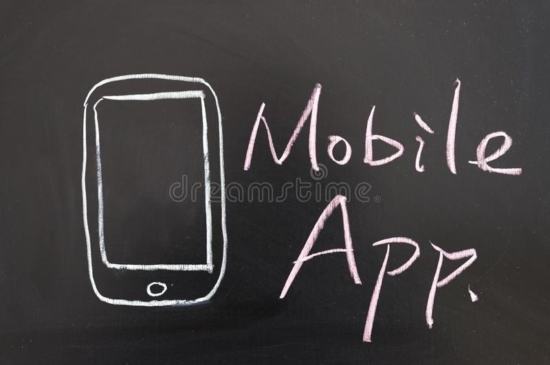Mobile app concept stock photography