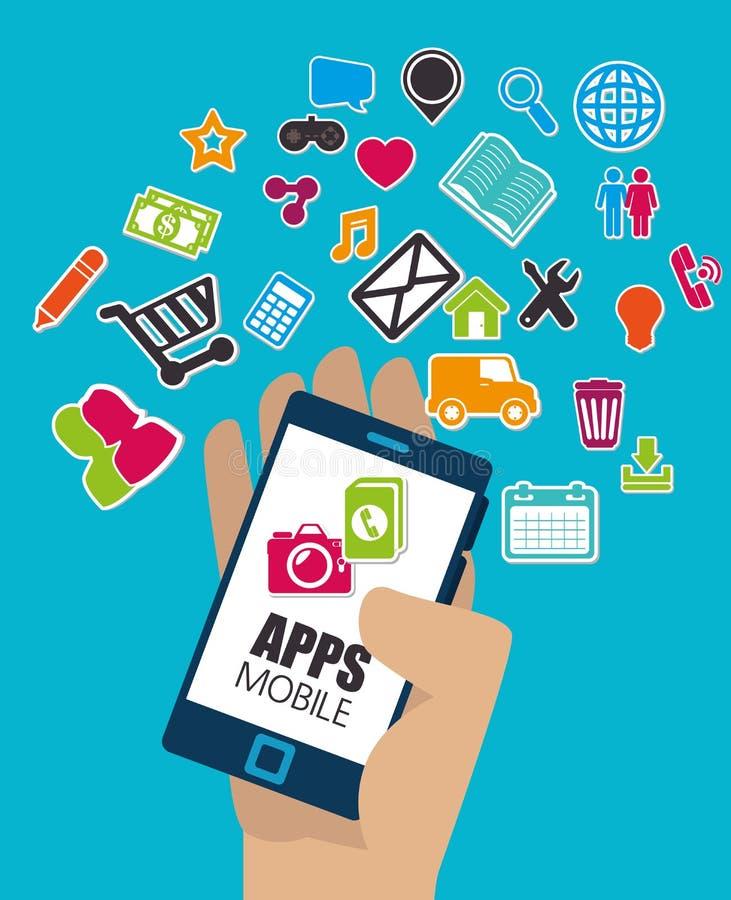 Mobile app design. stock illustration