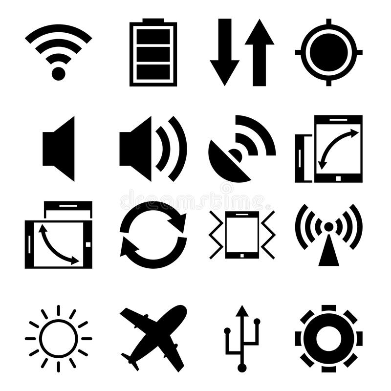 Mobile App Icons. This is file of EPS8 format stock illustration