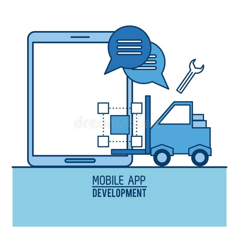 Mobile app infographic stock illustration