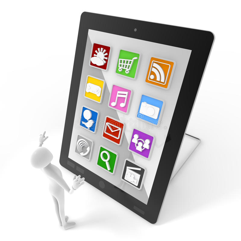 Download Mobile application stock illustration. Image of touch - 21698783