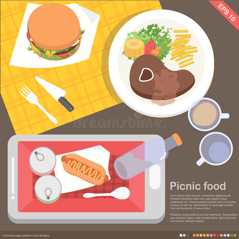 Download Mobile Application Cooking And Food Concept Stock Vector - Image: 42913760