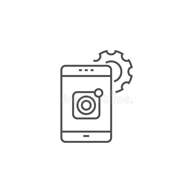 Mobile Apps Development Line Icon royalty free illustration