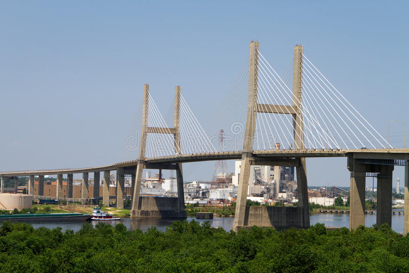 Mobile Aufhebung-Brücke lizenzfreies stockfoto