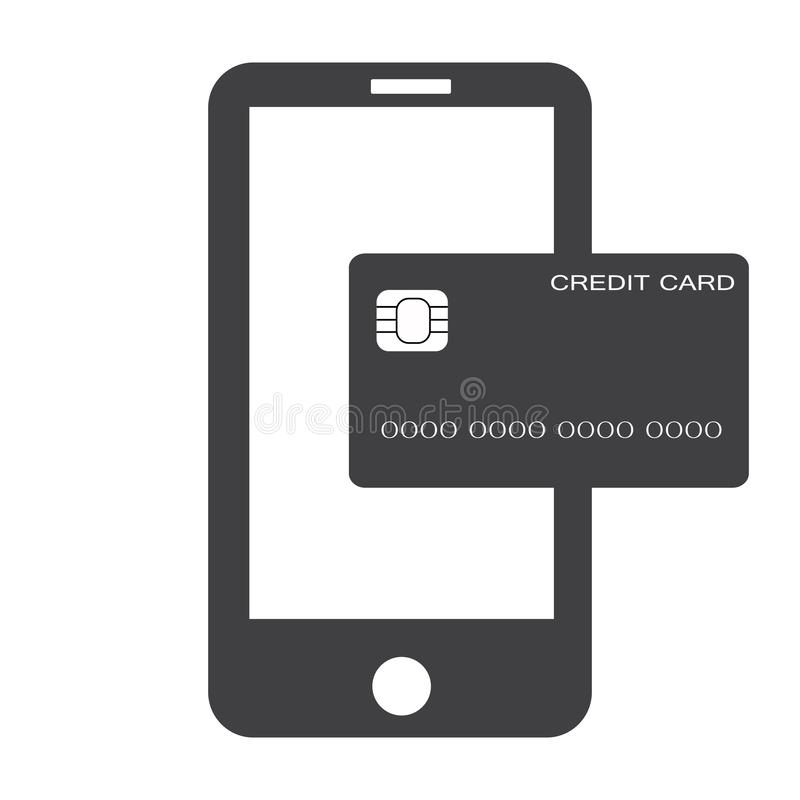 Mobile banking payment icon on white background. flat style. mobile payment icon for your web site design, logo, app, UI. mobile royalty free stock photo