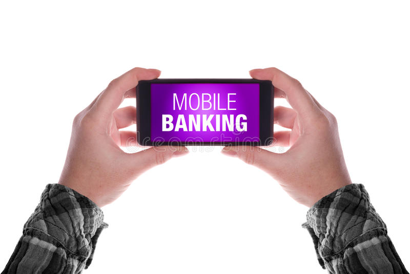 Mobile Banking stock photography