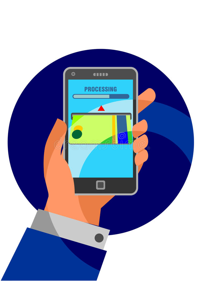 Mobile banking vector illustration