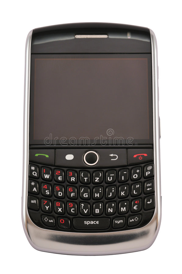 Mobile with blank display stock images
