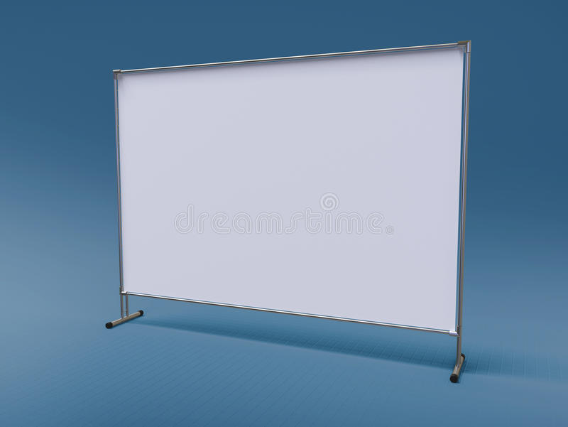 Mobile booth, brand or Press Wall with a blank banner mockup 3d render. Mobile booth, brand Wall or Press Wall with a blank banner mockup 3d render royalty free illustration