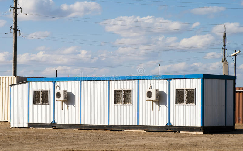 Mobile building in industrial site royalty free stock image