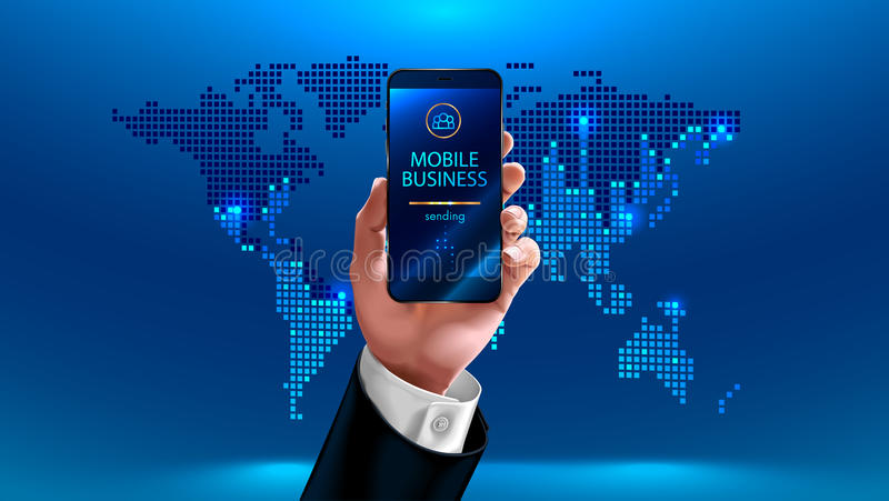 Mobile business royalty free illustration