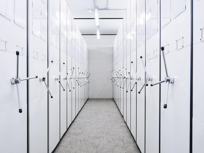 Mobile cabinet office storage document rack room perspective royalty free stock photos