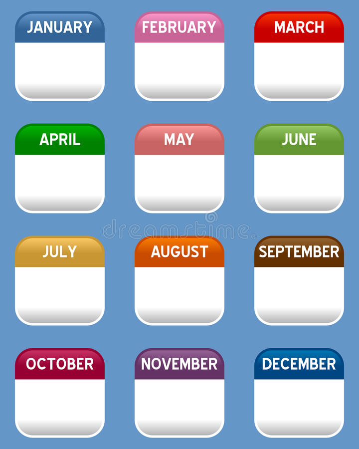 Download Mobile Calendar Icons Set stock vector. Illustration of august - 30727139