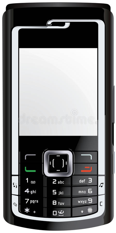 Mobile Cellphone Cellular Phone Vector stock image