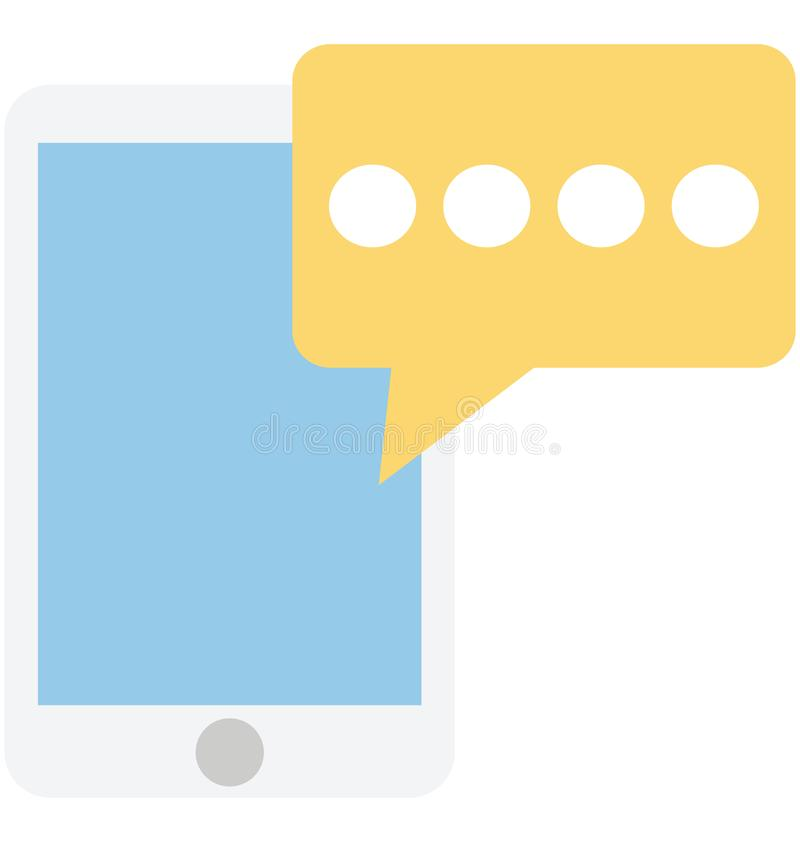Mobile chat, bubble isolated which can be easily edit or modified stock illustration