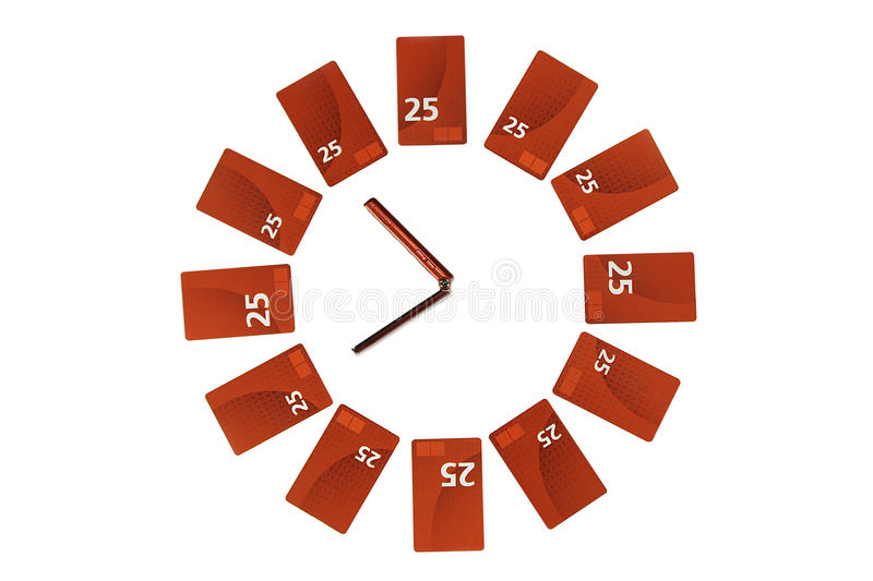 Download Mobile clock stock photo. Image of cards, evening, clock - 9601508