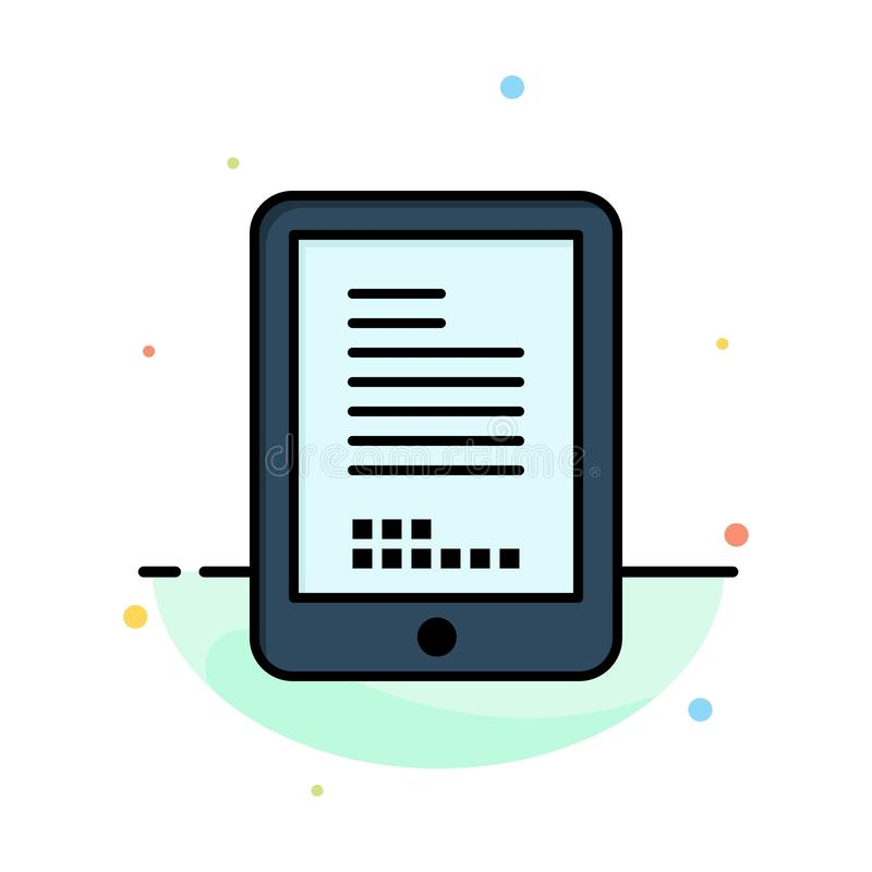 Mobile, Coding, Hardware, Cell Abstract Flat Color Icon Template royalty free illustration
