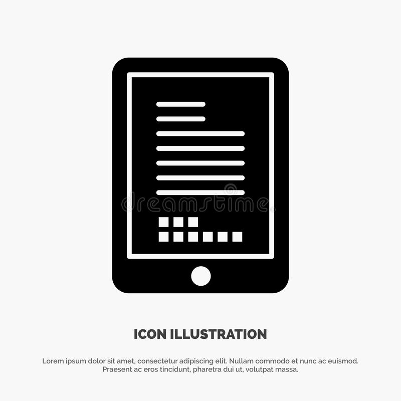 Mobile, Coding, Hardware, Cell Solid Black Glyph Icon royalty free illustration
