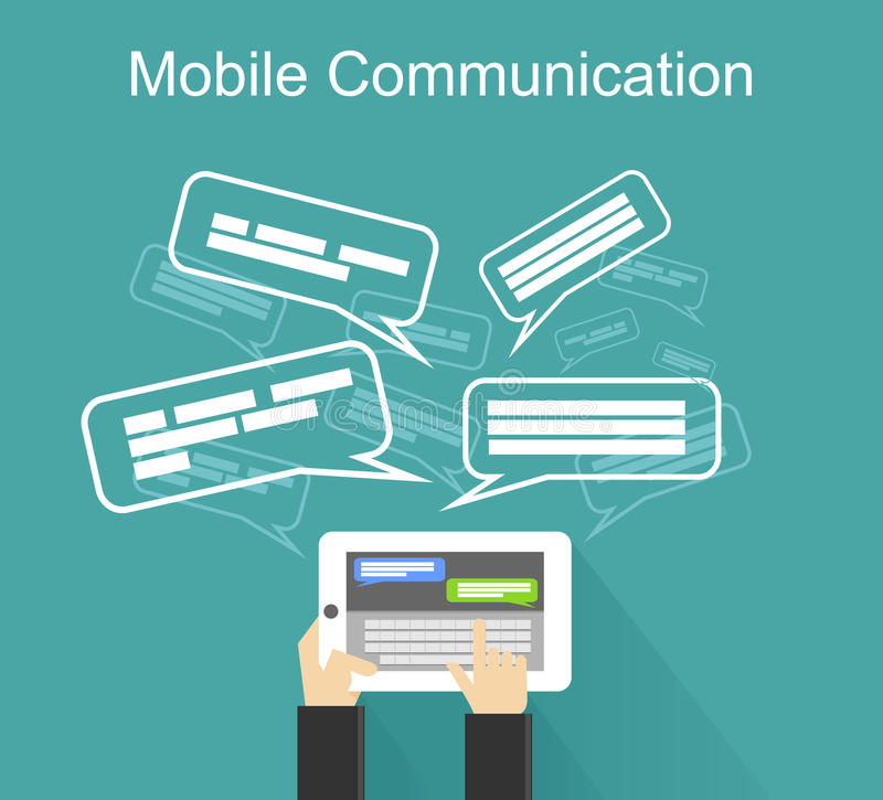 Mobile communication illustration. stock illustration