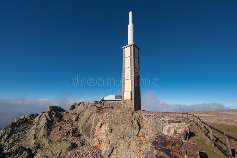 Mobile communications antenna in Pena the Francia, Salamanca, Spain. Mobile communications antenna in Pena the Francia, Salamanca, Spain stock photo