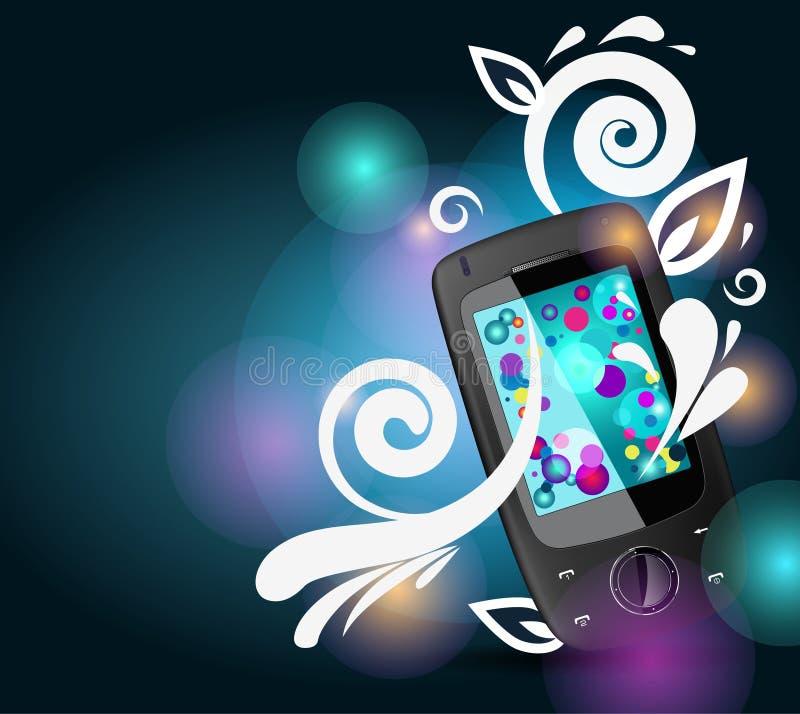 Mobile con le righe luminose illustrazione di stock