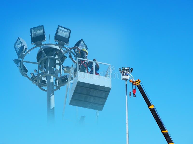 Mobile construction cran stock photography