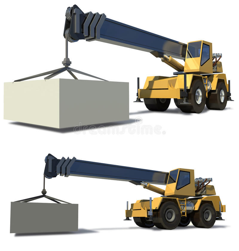 Download Mobile crane stock illustration. Illustration of crane - 12880933