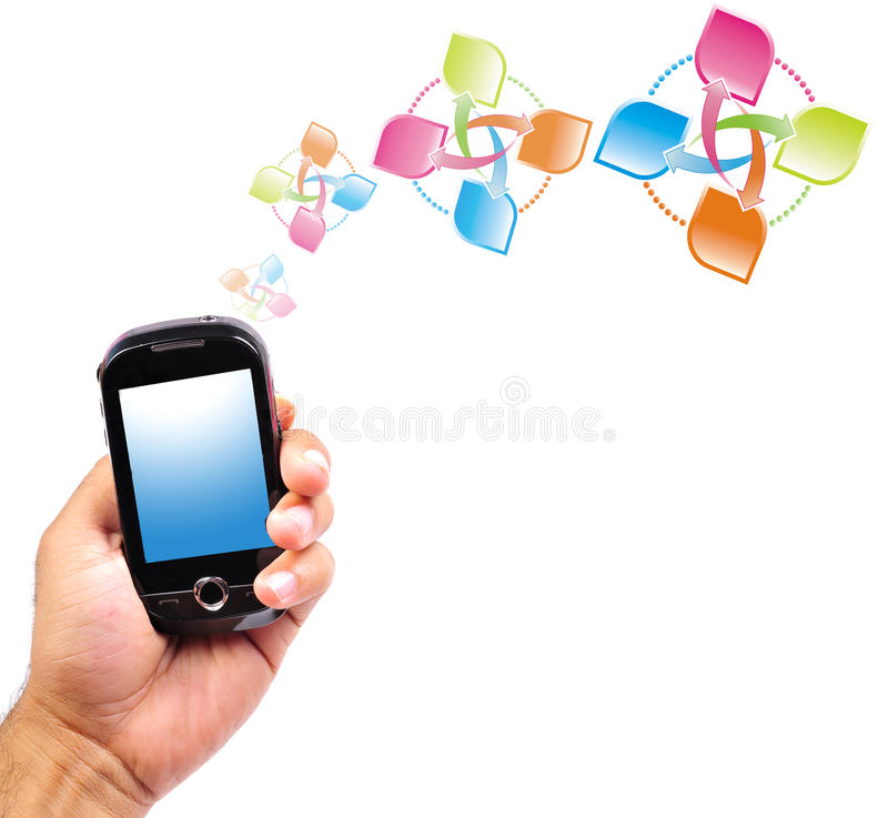 Mobile Data Transfer Royalty Free Stock Images