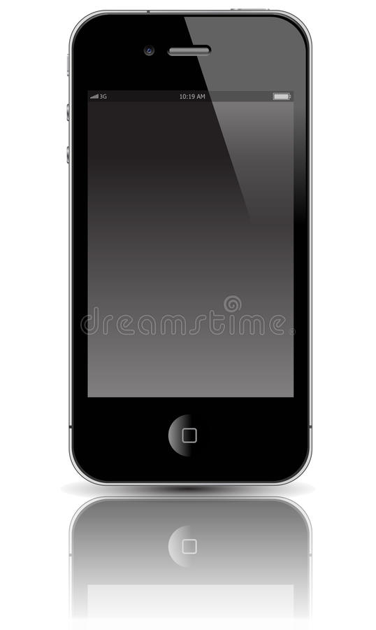 Mobile device. The luxury mobile device on white background vector illustration