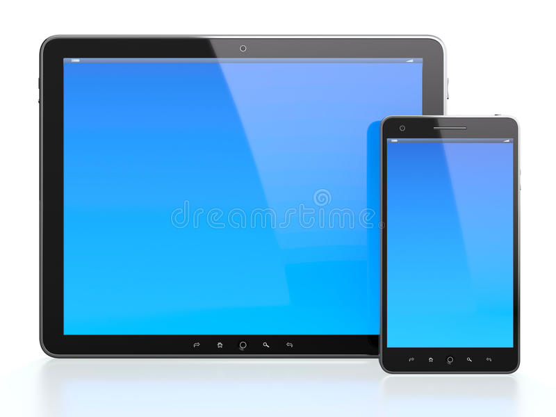 Mobile devices vector illustration