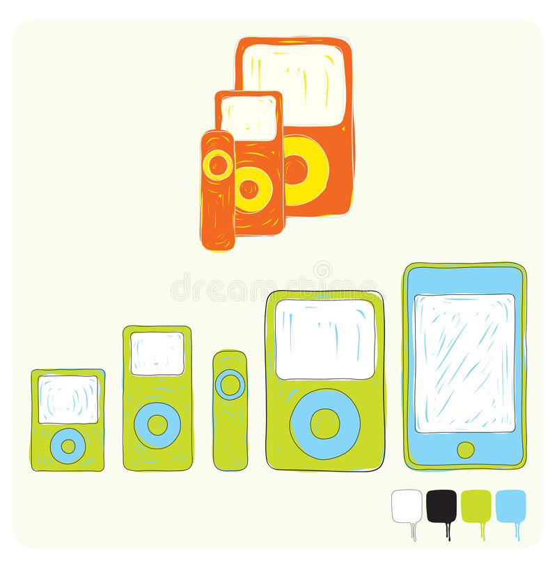 Download Mobile devices stock vector. Image of digital, modern - 25856732