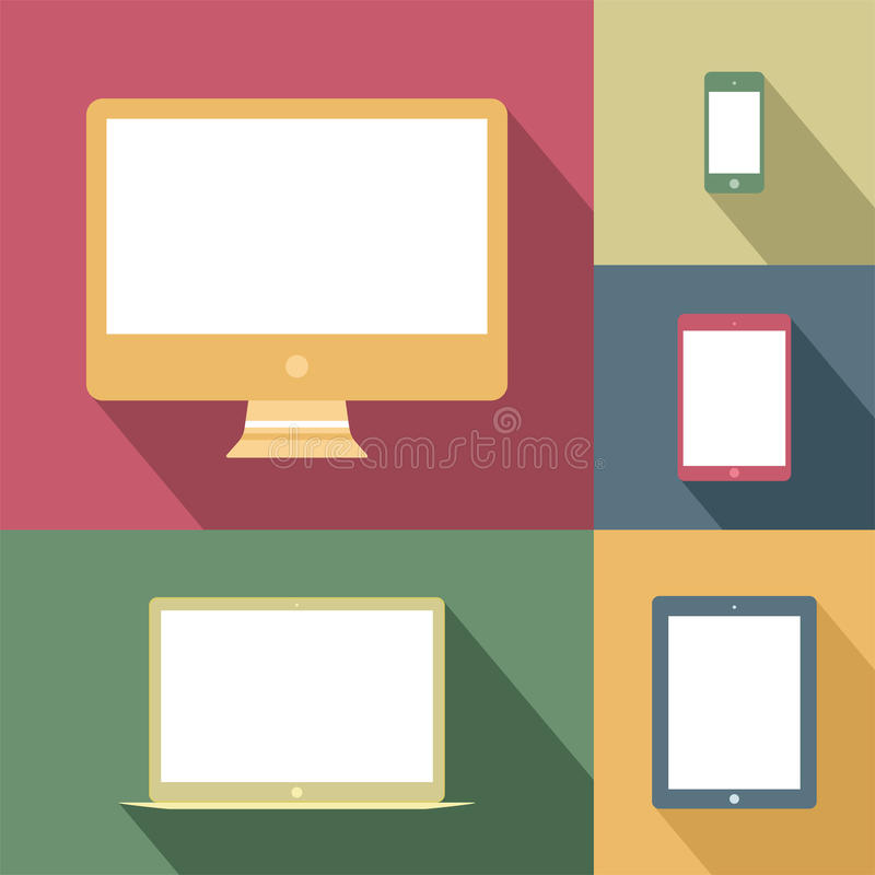 Free Mobile Devices And Screens In Vintage Style Stock Photography - 36394552